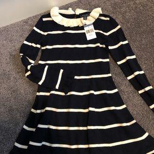 Girls Polo Ralph Lauren knitted dress size 7.